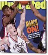 University Of Kansas Scot Pollard, 1997 Ncaa Southeast Sports Illustrated Cover Canvas Print