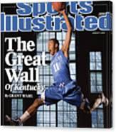University Of Kentucky John Wall Sports Illustrated Cover Canvas Print