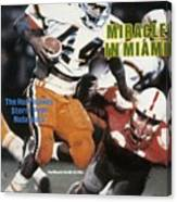 University Of Miami Keith Griffin, 1984 Orange Bowl Sports Illustrated Cover Canvas Print