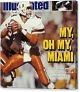 University Of Miami Qb Steve Walsh Sports Illustrated Cover Canvas Print