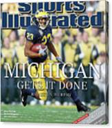 University Of Michigan Chris Perry Sports Illustrated Cover Canvas Print