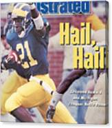 University Of Michigan Desmond Howard Sports Illustrated Cover Canvas Print