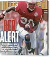 University Of Nebraska Ahman Green Sports Illustrated Cover Canvas Print