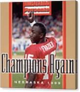University Of Nebraska Qb Tommie Frazier, 1996 Ibm Fiesta Sports Illustrated Cover Canvas Print