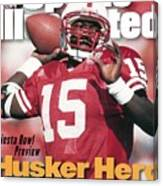 University Of Nebraska Qb Tommie Frazier Sports Illustrated Cover Canvas Print