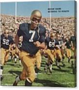 University Of Notre Dame Qb Johnny Huarte Sports Illustrated Cover Canvas Print