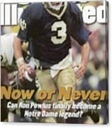 University Of Notre Dame Qb Ron Powlus Sports Illustrated Cover Canvas Print