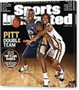 University Of Pittsburgh Dejuan Blair And Shavonte Zellous Sports Illustrated Cover Canvas Print