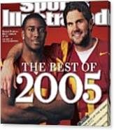 University Of Southern California Qb Matt Leinart And Sports Illustrated Cover Canvas Print