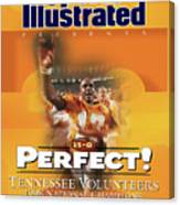 University Of Tennessee, 1998 Ncaa National Champions Sports Illustrated Cover Canvas Print