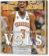 University Of Tennessee Candace Parker, 2007 Ncaa National Sports Illustrated Cover Canvas Print