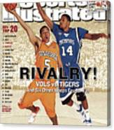 University Of Tennessee Chris Lofton And University Of Sports Illustrated Cover Canvas Print