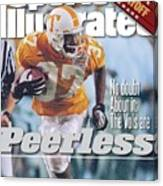 University Of Tennessee Peerless Price, 1999 Tostitos Sports Illustrated Cover Canvas Print