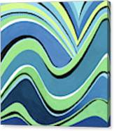 Untitled  Abstract Blue And Green Canvas Print