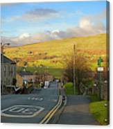 Upper Wensleydale From Hawes Yorkshire Dales National Park Canvas Print