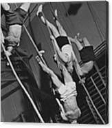 Upside Down Exercises Canvas Print