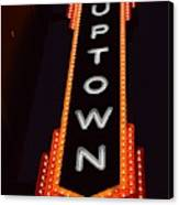 Uptown Signage 5 Canvas Print