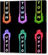 Uptown Signage 6 Canvas Print
