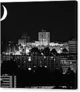 Urban Moonset Canvas Print