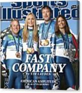 Us Alpine Skiing Medalists, 2010 Winter Olympics Sports Illustrated Cover Canvas Print