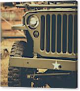Us Army Jeep World War II Canvas Print