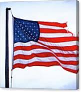 U.s. Flag 5 Canvas Print