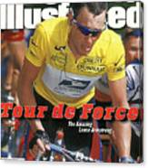 Us Postal Service Team Lance Armstrong, 2000 Tour De France Sports Illustrated Cover Canvas Print