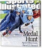 Usa Apolo Anton Ohno, 2010 Winter Olympics Sports Illustrated Cover Canvas Print