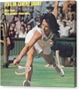 Usa Billie Jean King, 1973 Wimbledon Sports Illustrated Cover Canvas Print
