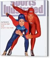 Usa Bonnie Blair And Norway Johann Olav Koss, 1994 Sports Illustrated Cover Canvas Print