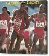 Usa Carl Lewis, 1984 Summer Olympics Sports Illustrated Cover Canvas Print