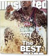 Usa Carl Lewis, 1996 Summer Olympics Sports Illustrated Cover Canvas Print