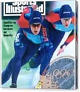 Usa Dan Jansen And Bonnie Blair, 1994 Winter Olympics Sports Illustrated Cover Canvas Print