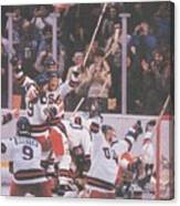 Usa Hockey, 1980 Winter Olympics Sports Illustrated Cover Canvas Print