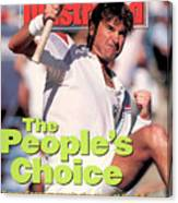 Usa Jimmy Connors, 1991 Us Open Sports Illustrated Cover Canvas Print
