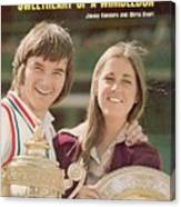 Usa Jimmy Connors And Usa Chris Evert, 1974 Wimbledon Sports Illustrated Cover Canvas Print