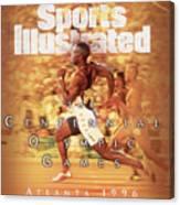 Usa Michael Johnson, 1996 Summer Olympics Sports Illustrated Cover Canvas Print