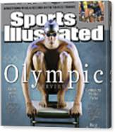 Usa Michael Phelps, 2004 Athens Olympic Games Preview Issue Sports Illustrated Cover Canvas Print