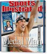 Usa Michael Phelps, 2004 Summer Olympics Sports Illustrated Cover Canvas Print