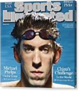 Usa Michael Phelps, 2008 Beijing Olympic Games Preview Sports Illustrated Cover Canvas Print