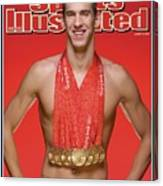 Usa Michael Phelps, 2008 Summer Olympics Sports Illustrated Cover Canvas Print