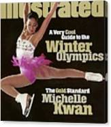 Usa Michelle Kwan, 1998 Nagano Olympic Games Preview Sports Illustrated Cover Canvas Print