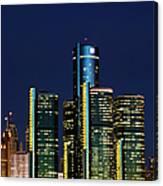 Usa, Michigan, Detroit, Skyline & Canvas Print