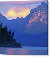 Usa, Montana, Glacier Np, Mountains Canvas Print