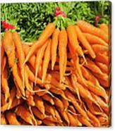 Usa, New York City, Carrots For Sale Canvas Print