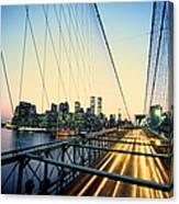 Usa, New York City, Manhattan, View Canvas Print
