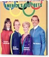 Usa Tamara Mckinney, Scott Hamilton, Rosalynn Sumners, And Sports Illustrated Cover Canvas Print