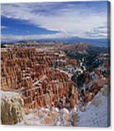 Usa, Utah, Winter Bryce Canyon Canvas Print