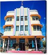Usa,florida,miami Beach,art Deco Canvas Print
