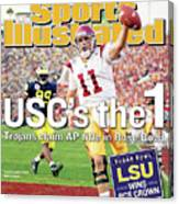 Uscs The 1 Trojans Claim Ap Title In Rose Bowl Sports Illustrated Cover Canvas Print